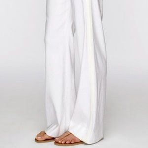 Vince | Linen Blend Wide Leg Tuxedo Pants | 2